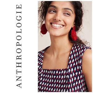 Anthropologie Eri & Ali Peplum Top Size Small